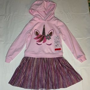 Unicorn Kate mack dress by biscotti with hoodie